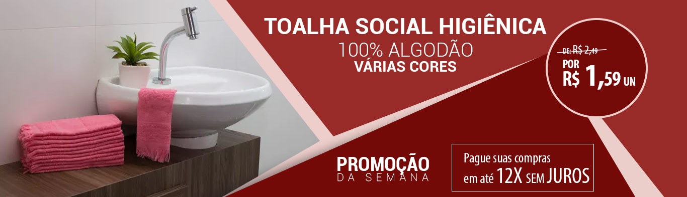 TOALHA SOCIAL HIGIÊNICA