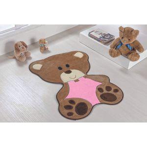 Tapete-Infantil-Bebe-Urso-Rosa