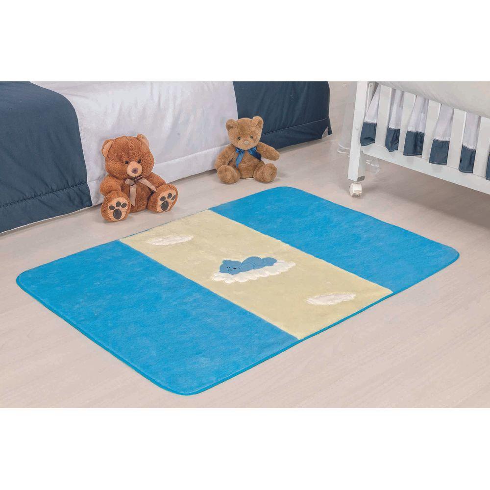 tapete infantil big urso baby 130cm x 90cm turquesa enlevolar. Black Bedroom Furniture Sets. Home Design Ideas