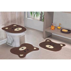 Jogo-de-Tapete-de-Banheiro-Infantil-3-Pecas-Formato-Urso---Cafe