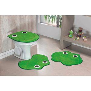 Jogo-de-Tapete-de-Banheiro-Infantil-3-Pecas-Formato-Sapo---Verde-Pistache