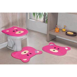 Jogo-de-Tapete-de-Banheiro-Infantil-3-Pecas-Formato-Ursa-Pink