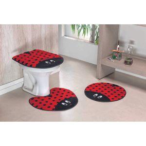 Jogo-de-Tapete-de-Banheiro-Infantil-3-Pecas-Formato-Joaninha-Vermelho