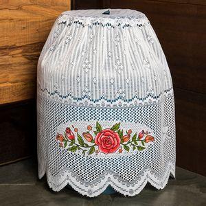 Capa-para-Botijao-de-Gas-de-13kg-de-Renda-Branca-Floral-Interlar