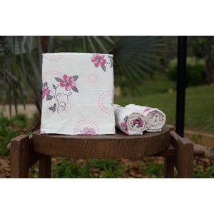 Toalha-de-Banho-Felpuda-Italia---Floral-Rosa