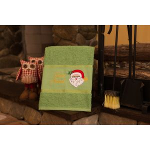 Toalha-de-Banho-Felpuda-Bordada-Natal-Verde---Papai-Noel