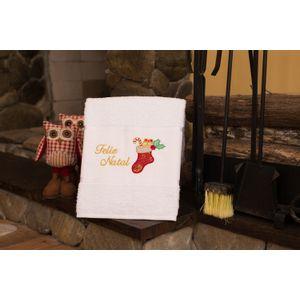 Toalha-de-Banho-Felpuda-Bordada-Natal-Branco---Presentes