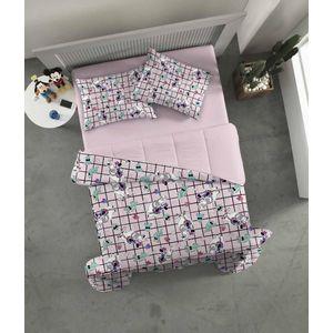 34f8144622 Kit Edredom Flanela Touch e lençol Casal - Carbono Rosa Coral ...