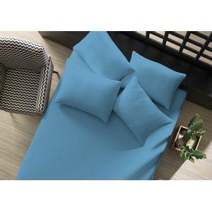lencol-avulso-liso-com-elastico-queen-azul-mar