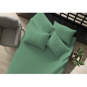 lencol-avulso-liso-com-elastico-queen-verde-topazio