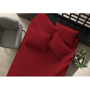 lencol-avulso-liso-com-elastico-queen-vermelho-rubi