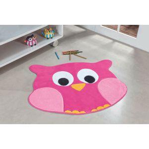 tapete-infantil-formato-coruja-rosa