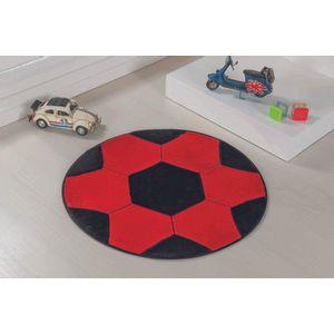 tapete-infantil-formato-bola-vermelho-e-preto