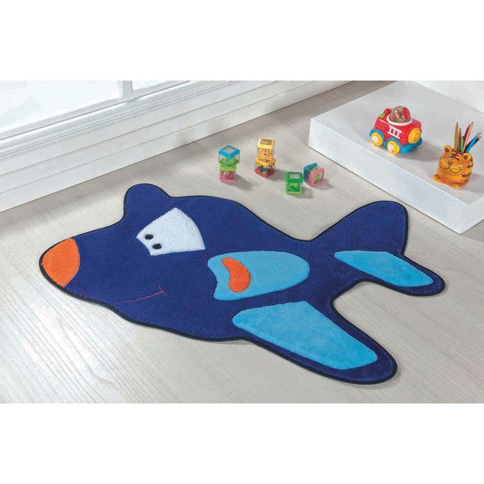 tapete-infantil-aviao-azul-royal