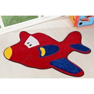 tapete-infantil-formato-aviao-vermelho
