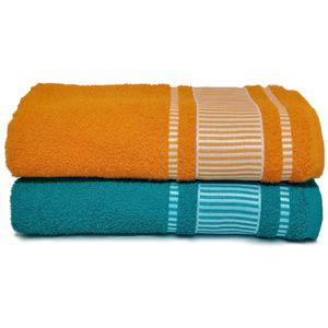 jogo-de-toalha-banhao-com-2-pecas-turquesa-e-laranja