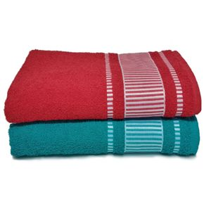 jogo-de-toalha-banhao-com-2-pecas-turquesa-e-vermelho