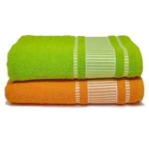 jogo-de-toalha-banhao-com-2-pecas-verde-e-laranja