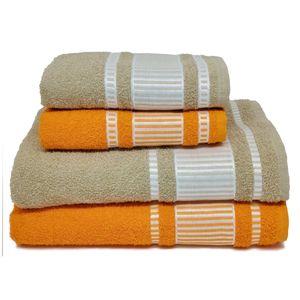 Jogo-de-Toalhas-banhao-viena-4-pecas-areia-e-laranja
