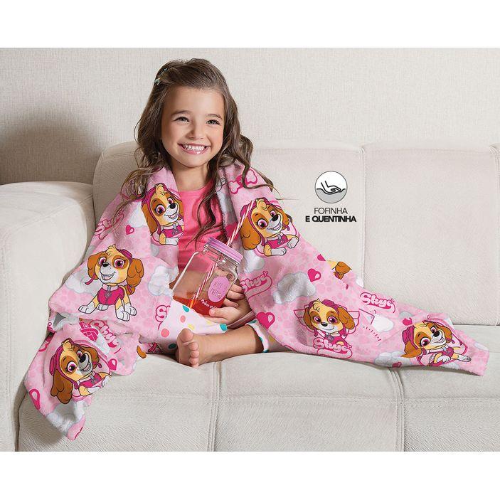 manta-cobertor-infantil-patrulha-canina-rosa