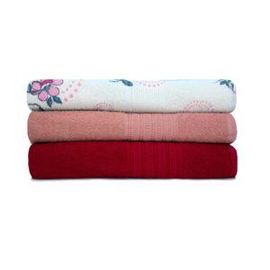 Jogo-de-toalha-de-banho-com-3-pecas-lisboa-e-italia-cereja-rose-e-floral-rosa
