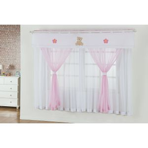 cortina-infantil-ursinho-rosaa