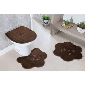 Jogo-de-Tapete-de-Banheiro-Infantil-3-Pecas-Formato-beija-flor-cafe