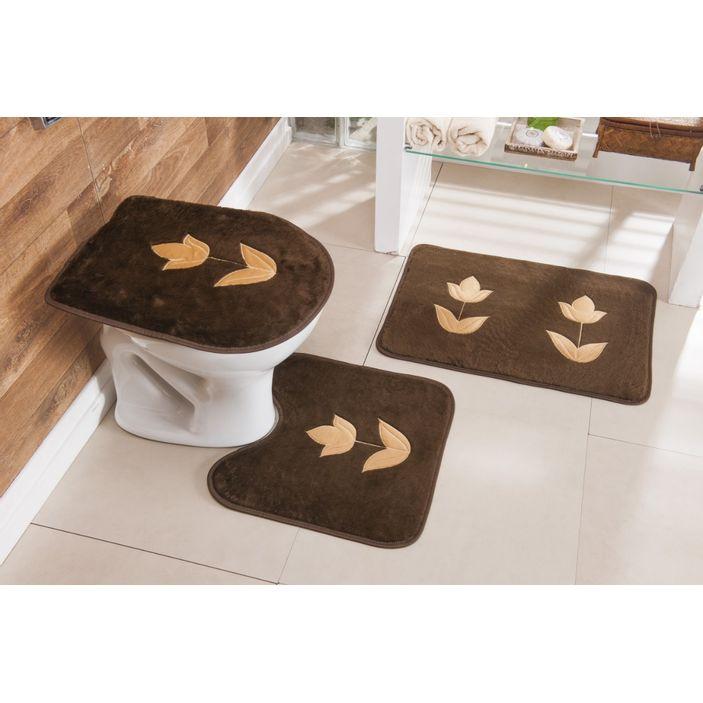 Jogo-de-Tapete-de-Banheiro-Bordado-3-Pecas-Tulipa-cafe