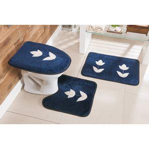 Jogo-de-Tapete-de-Banheiro-Bordado-3-Pecas-Tulipa-azul-marinho