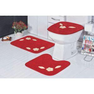Jogo-de-Tapete-de-Banheiro-Bordado-3-Pecas-margarida-unica-vermelho