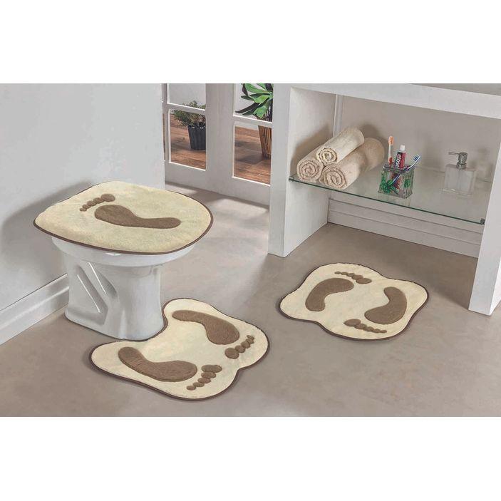 Jogo-de-Tapete-de-Banheiro-Bordado-3-Pecas-pegada-palha