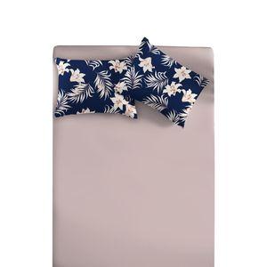 Jogo-de-Lencol-Casal-com-3-Pecas---Hawaii-Rosa-Quartz