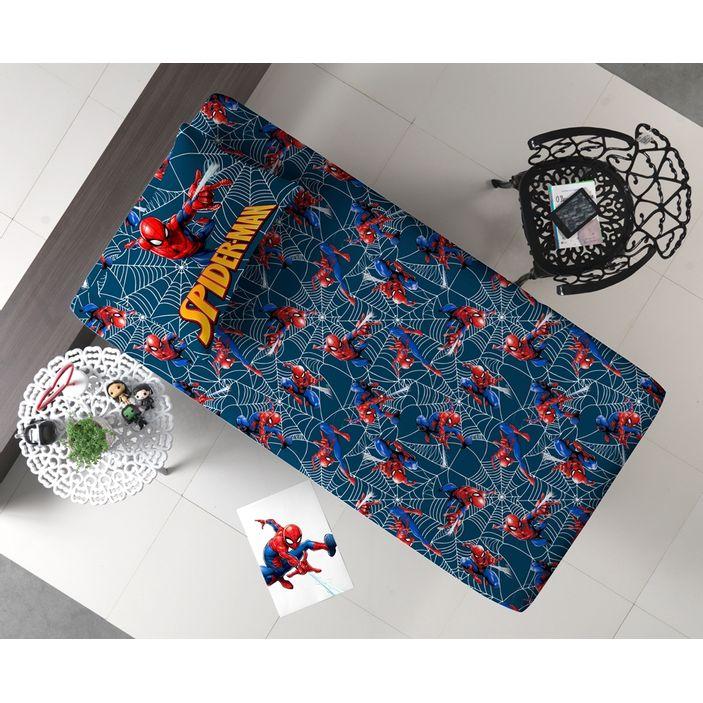 Jogo-de-Lencol-Solteiro-Malha-Doce-Vida-Joy-Disney-2-Pecas---Spider-Man